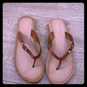 Aldo Brown Flip-flops
